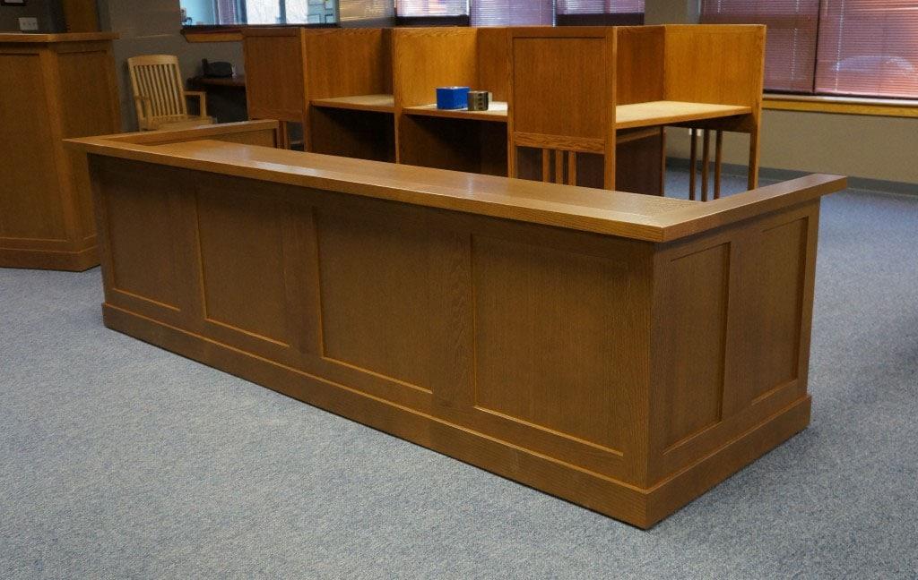Circulation Desk, Carrel, and Podium