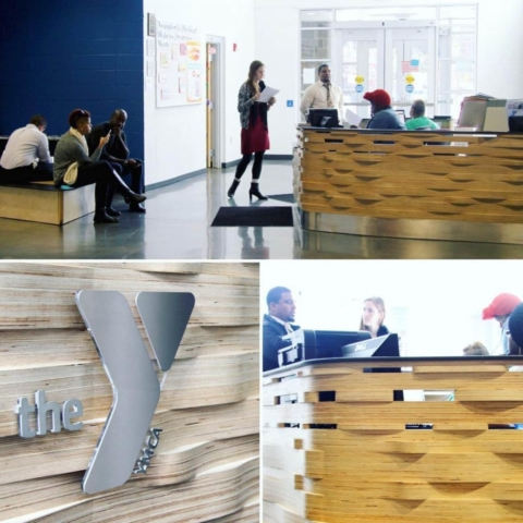 YMCA Reception Desk
