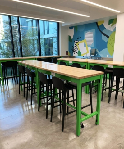 Coby Apron Tables with Power